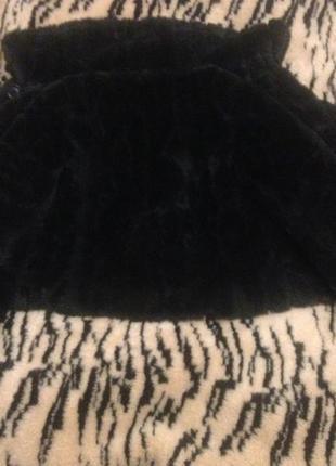 Шуба искусственный мех шубка полушубок мутон автоледи черная с воротником