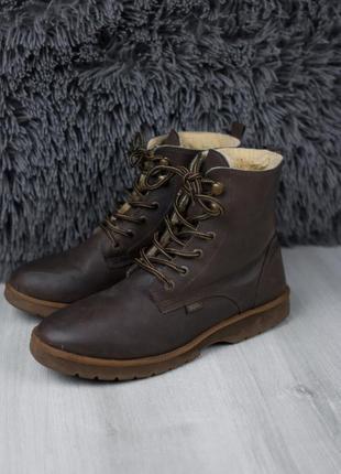 Мужские зимние теплые ботинки из эко кожи унисекс, 41 размер