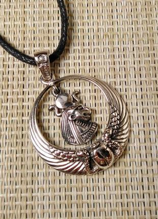 Подвеска серебряная женская кулон  египетская богиня сехмет