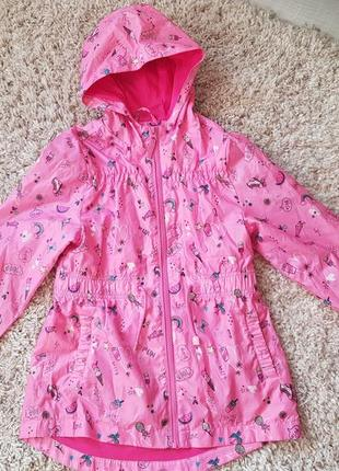 Куртка, ветровка, дождевик, плащ george на 9-10 лет в отличном состоянии
