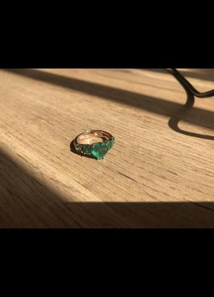 Каблучка кольцо золото изумруд смарагд