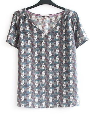 Sale! - 125 грн! - футболка с невероятно крутым принтом white stuff • р-р l (12)
