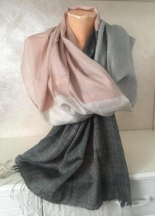 Супер брендовый шарф 4-х цветный в пастельных тонах