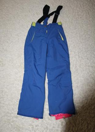 9-10 лет, качественный термополукомбинезон, яркие лыжные штаны для девочки mini boden