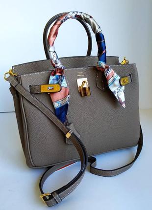 Брендовая сумка шоппер 30 см в цветах