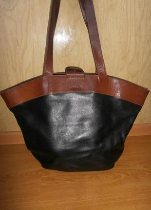 Очень большая сумка из натуральной кожи