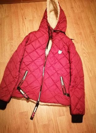Куртка на овчине зима