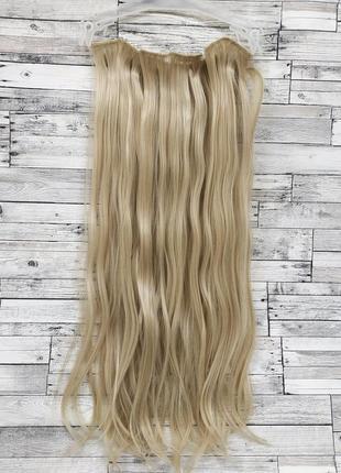 Трессы ровные набор блонд №24-613 16 клипс 55см 6 прядей 130г 6236