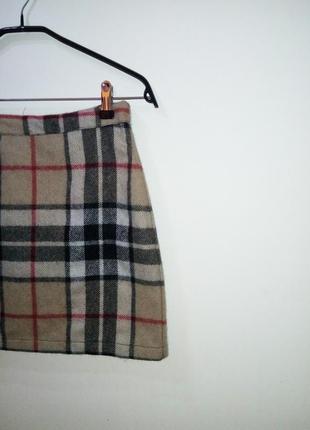 Тепленькая юбка в клетку от exhibit