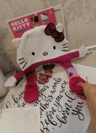 Шапка для девочки hello kitty