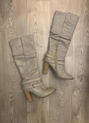 Натуральные кожаные сапоги еврозима