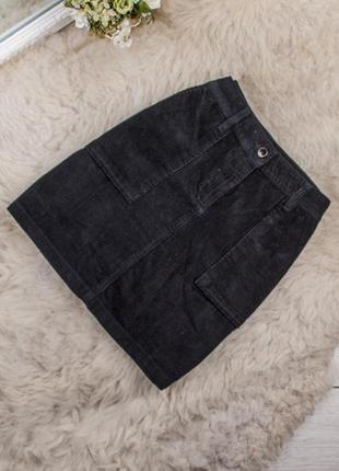 Качественная стильная вельветовая юбка от next рр 10 наш 44