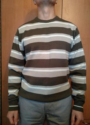 Отличный мужской свитер, джемпер, пуловер пог 54 см