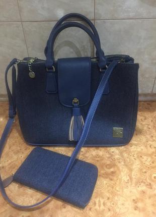 Новый фирменный твидовый комплект, сумка и кошелек house of tweed