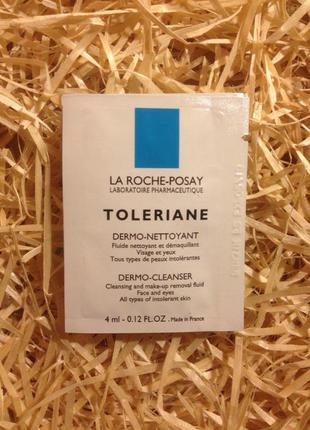Молочко для очищения  чувствительной кожи la roche-posay toleriane dermo-cleanser