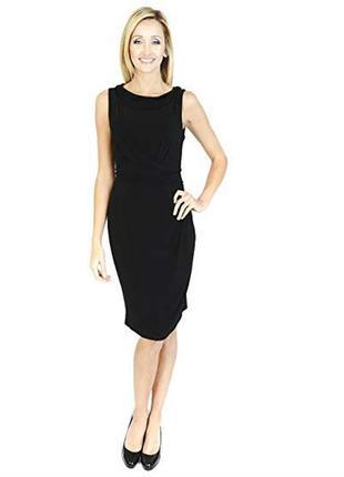 F&f универсальное черное платье с драпировкой, р.16, на наш 48-й
