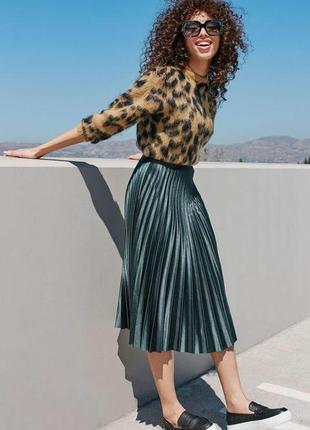 Потрясающе красивая юбка плисе с анимал принтом devier