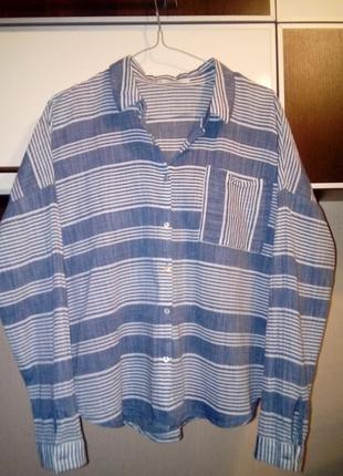 Хлопковая рубашка манго оверсайз s, m