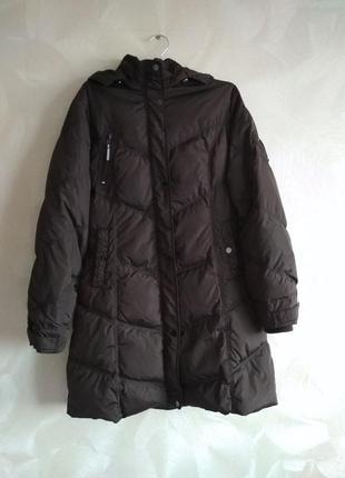Коричневый пуховик,куртка зимняя saki snow