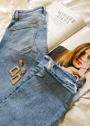Прямые мом джинсы