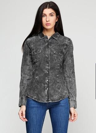 Джинсовая рубашка esmara 42
