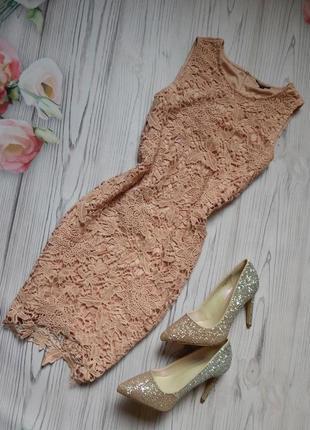 🌿шикарное гипюровое платье от warehouse. размер м-l🌿