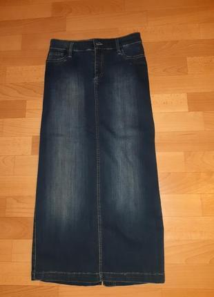 Длинная джинсовая юбка whitney jeans