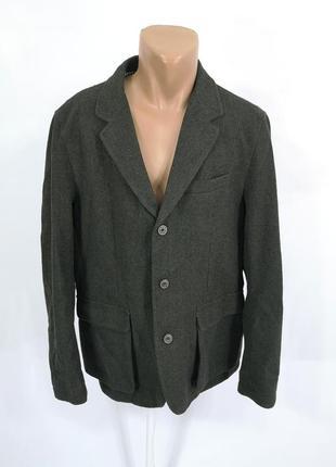 Пиджак стильный, теплый f&f, т.зеленый