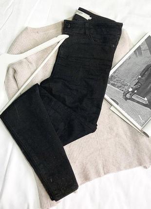 Актуальные чёрные базовые джинсы скини на средней посадке от vero moda