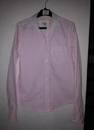 Чудесная хлопковая рубашка abercrombie&fitch
