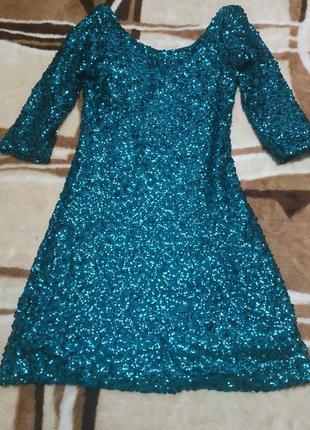 Платье на новый год пайетка