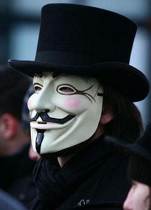 Маска гая фокса анонимуса v-вендетта
