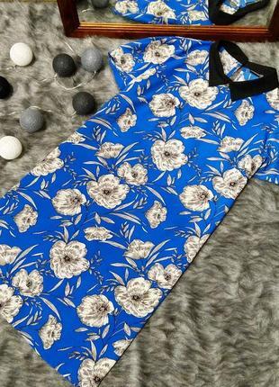 Платье  прямого силуэта с контрастным воротничком atmosphere