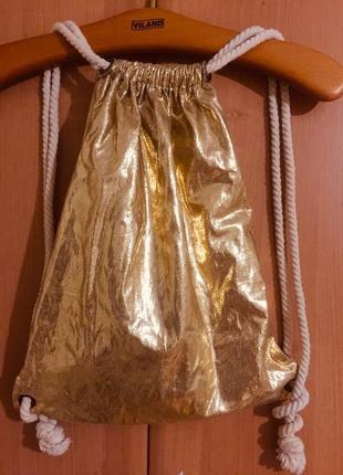 Гламурный женский золотой блестящий рюкзак мешок eight 2 nine