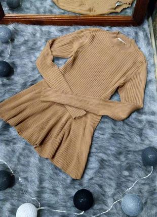 Джемпер блуза топ кофточка с баской miss selfridge