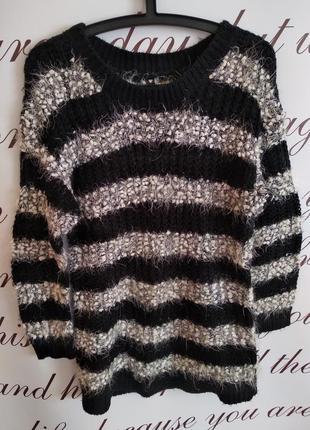 Очень красивый, теплый свитер-травка influence