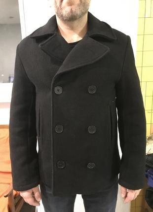 Чёрное пальто h&m