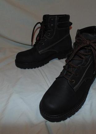Ботинки сапоги из натуральной кожи почти как новые мех утепление landrover оригинал