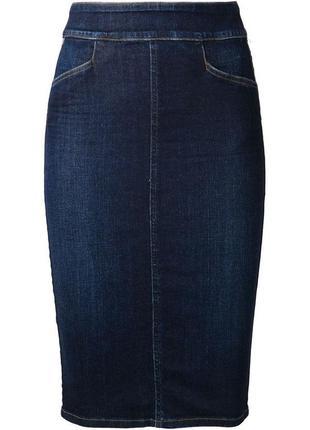 Супер батал джинсовая юбка миди футляр размер 20