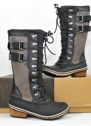 Sorel conquest carly ii, женские зимние ботинки сапоги дутики, ecco термо зимові