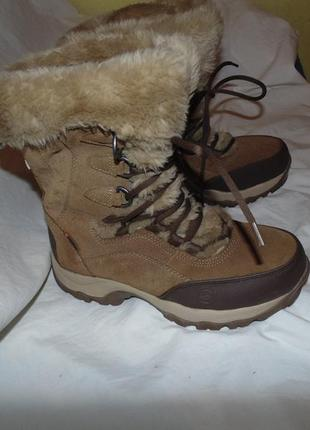 Ботинки зимние сапоги мембрана hi-tec оригинал замша новые размер 38 по стельке 24.5