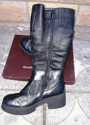 Распродажа склада! новая кожаная обувь! производитель днепр! сапоги зима размер 41