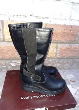 Распродажа склада! новая кожаная обувь! производитель днепр! сапоги зима размер 37