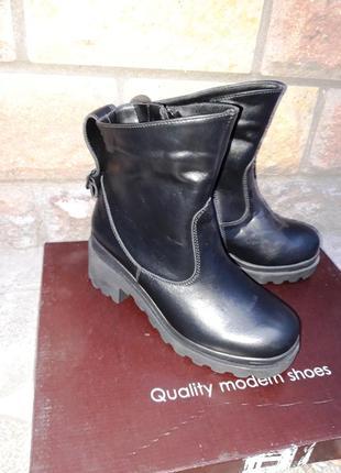 Распродажа склада! новая кожаная обувь! ботинки деми размер 36