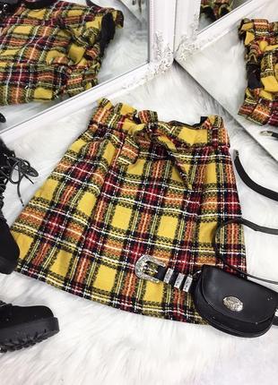 Твидовая юбка new look в клетку