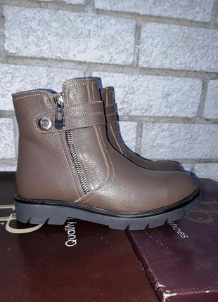 Распродажа склада! новая кожаная обувь! производитель днепр! ботинки зима рр 37