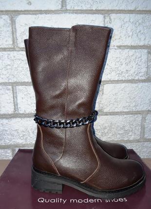 Распродажа склада! новая кожаная обувь! сапоги зима размер 37