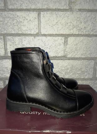 Распродажа склада! новая кожаная обувь!ботинки зима размер 37
