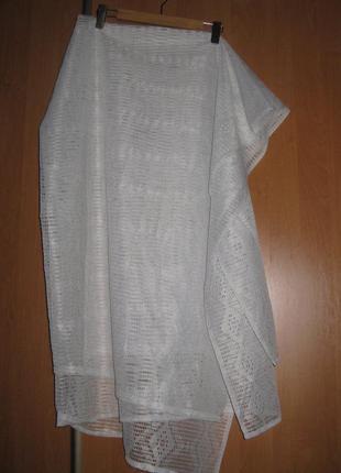 Новая штора - сетка, густая, белая, плотная, хлопок, 1,5  х 1,85 метра