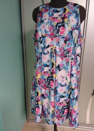 Яркое платье большого 22 размера george